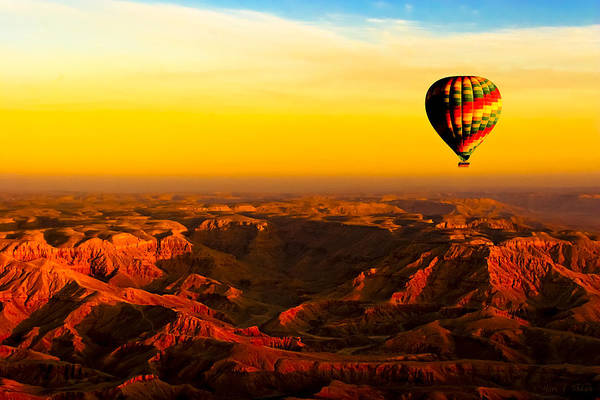 Photograph - Hot Air Balloon Over Egyptian Valley Of The Kings by Mark Tisdale