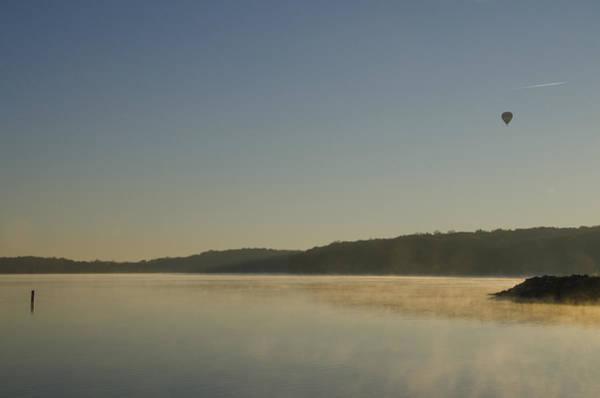 Wall Art - Photograph - Hot Air Balloon Over Lake Nockamixon by Bill Cannon