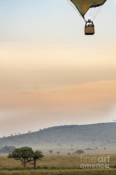 Photograph - Hot Air Balloon Over Serengeti  by RicardMN Photography