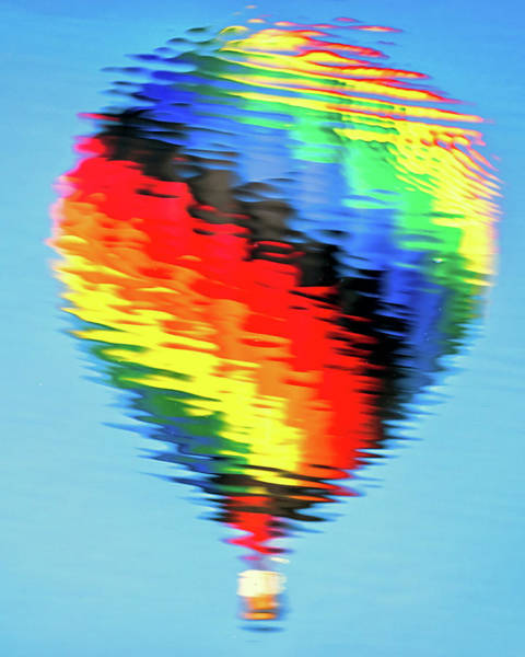 Photograph - Hot Air Balloon Reflection by John Vose