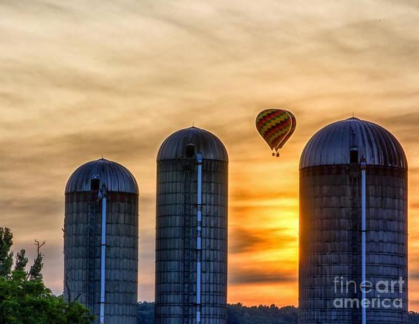 Photograph - Hot Air Balloon Sunset by Rod Best