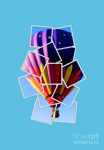 Balloon Festival Photograph - Hot Air Balloon Tee by Edward Fielding