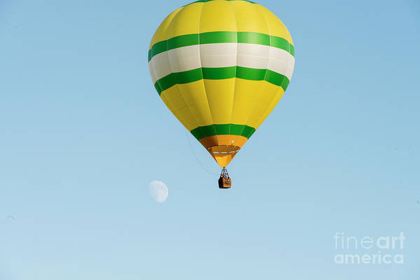 Photograph - Hot Air Balloon With Moon by Dan Friend
