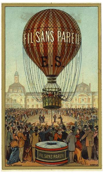 Wall Art - Photograph - Hot Air Balloon With People And Filsans by Gillham Studios