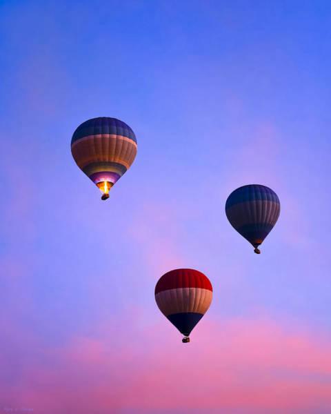 Hot Photograph - Hot Air Balloons At Dawn by Mark E Tisdale