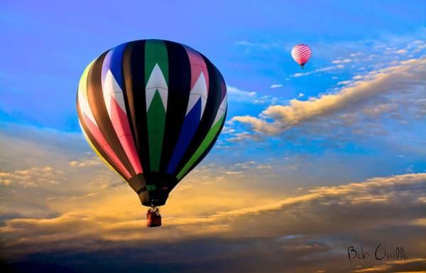 Photograph - Hot Air Balloons At Sunset by Bob Orsillo