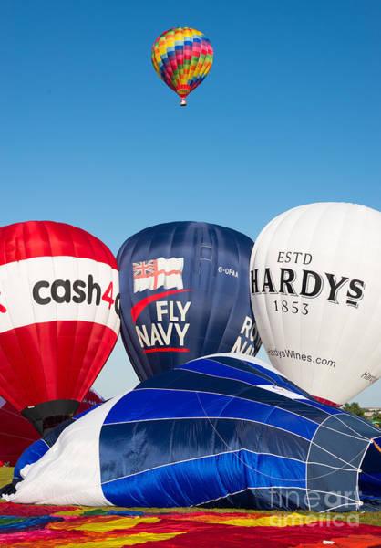 Photograph - Hot Air Balloons. Bristol Balloon Fiesta by Colin Rayner