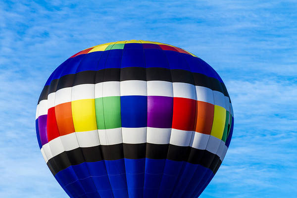 Photograph - Hot Air Balloons In Blue by Teri Virbickis