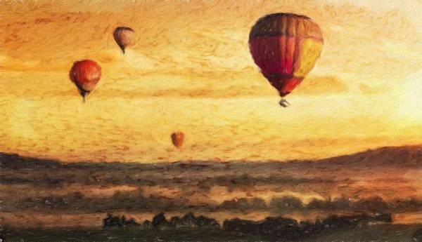 Lurksart Painting - Hot Air - Id 16235-220458-0878 by S Lurk