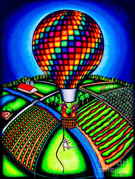 Drawing - Hot Air Kats by Laurie Tietjen
