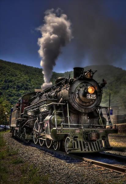 Steam Locomotives Photograph - Hot And Steamy by Evelina Kremsdorf