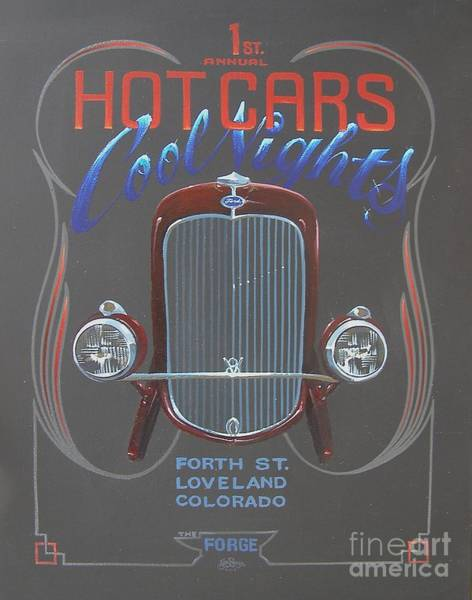 Painting - Hot Cars Cool Nights by Alan Johnson