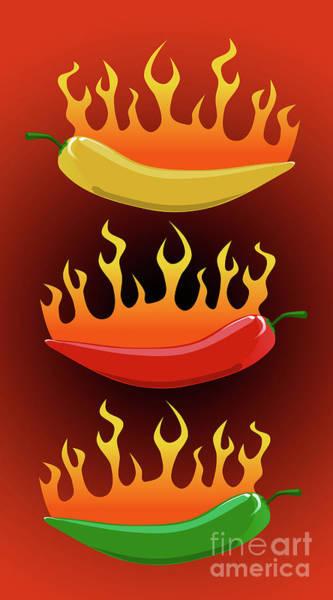 Ingredient Digital Art - Hot Chilies by Andreas Berheide