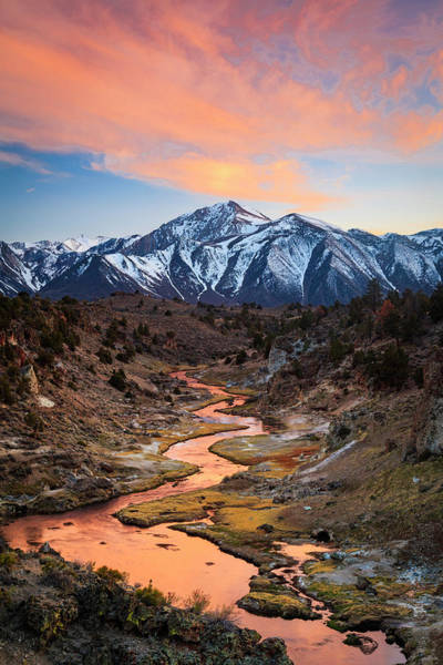 Wall Art - Photograph - Hot Creek Fiery Sunset by Johnny Adolphson