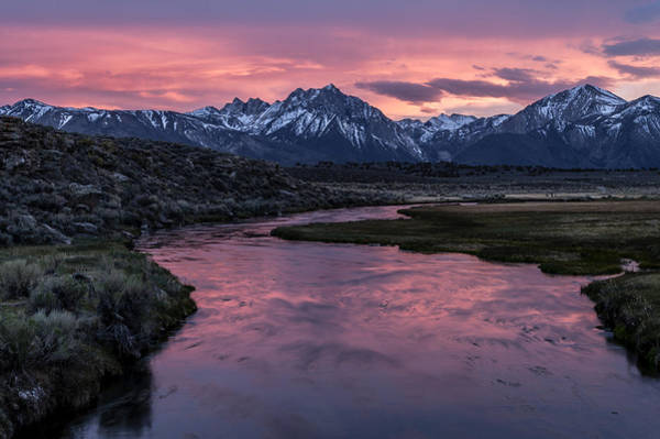 Sierra Nevada Photograph - Hot Creek Sunset by Cat Connor