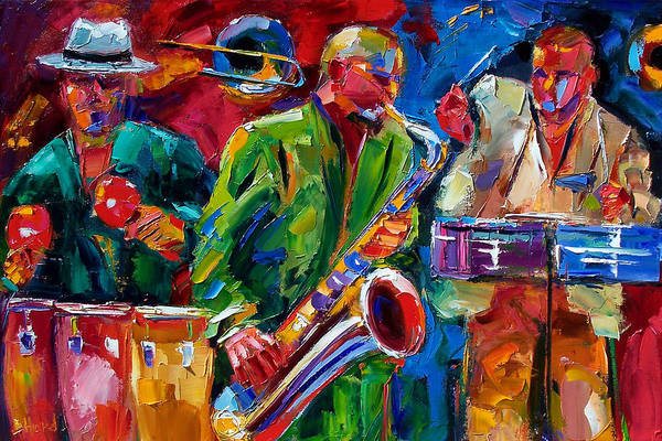 Latino Painting - Hot Cuban Jazz by Debra Hurd