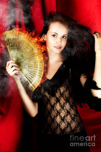 Showgirl Photograph - Hot Female Fire Dancer by Jorgo Photography - Wall Art Gallery