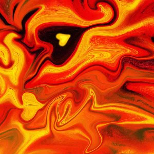 Painting - Hot Heart Pulsation By Irina Sztukowski by Irina Sztukowski