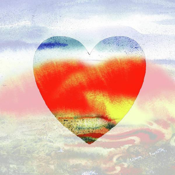 Painting - Hot Heart Watercolor Silhouette by Irina Sztukowski