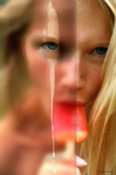 Digital Art - Hot Ice Girl by Gabriel T Toro