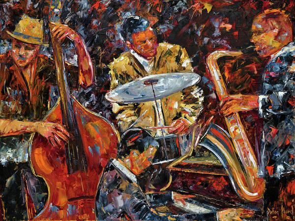 Sax Painting - Hot Jazz Series 4 by Debra Hurd