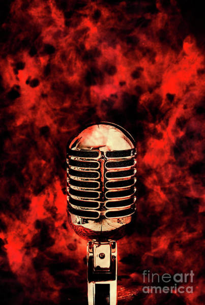 Microphone Photograph - Hot Live Show by Jorgo Photography - Wall Art Gallery