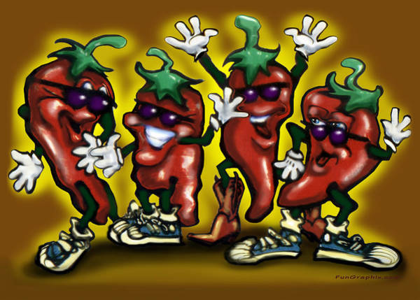 Digital Art - Hot Peppers by Kevin Middleton