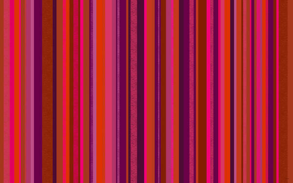 Digital Art - Hot Pink And Orange Stripes by Val Arie