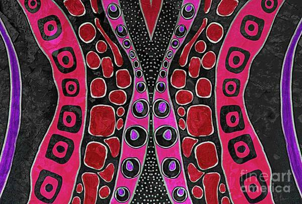 Mixed Media - Hot Pink Fusion by Jolanta Anna Karolska