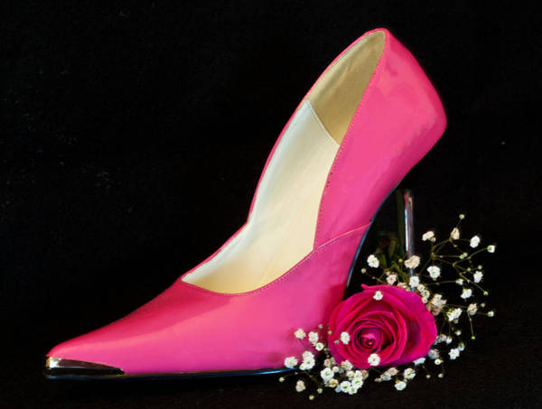 Photograph - Hot Pink Pump by Patti Deters