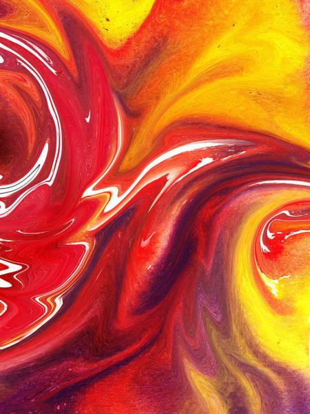 Painting - Hot Red Yellow By Irina Sztukowski by Irina Sztukowski