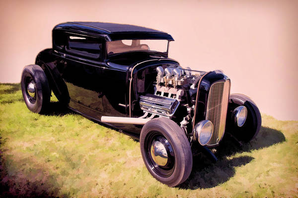 Awesome Show Digital Art - Hot Rod Ford by Timothy Rohman