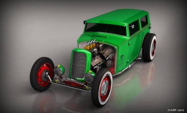 Ken Morris Digital Art - Hot Rod Sedan by Ken Morris