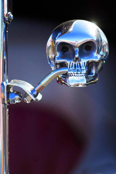 Rat Rod Wall Art - Photograph - Hot Rod Skull Rear View Mirror by Jill Reger