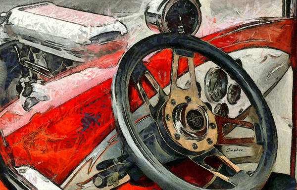 Photograph - Hot Rod Steering Wheel by Floyd Snyder