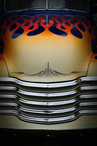 Hot Rod Truck Hood Art Print