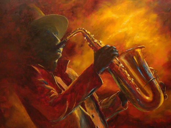 Sax Painting - Hot Sax by Kathleen Tucker