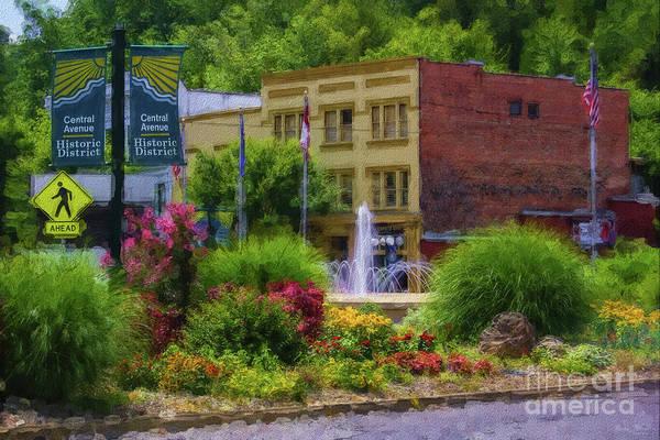 Arkansas Mixed Media - Hot Springs Roundabout Painterly by Jennifer White