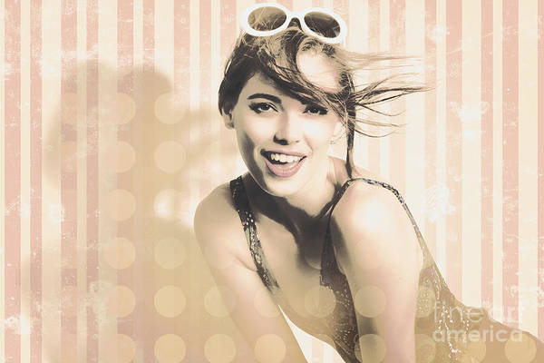 Photograph - Hot Summer Day Pin Up Model by Jorgo Photography - Wall Art Gallery