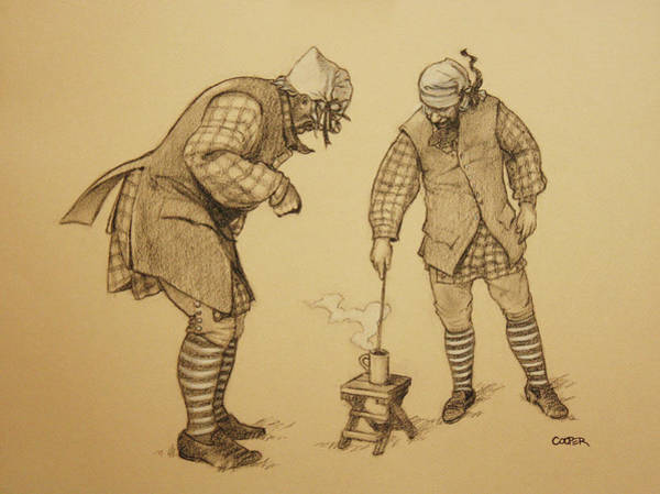 Drawing - Hot Toddy by Todd Cooper