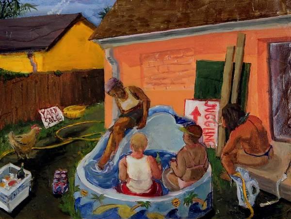 Kiddie Pool Painting - Hot Tub by Milo Wissig