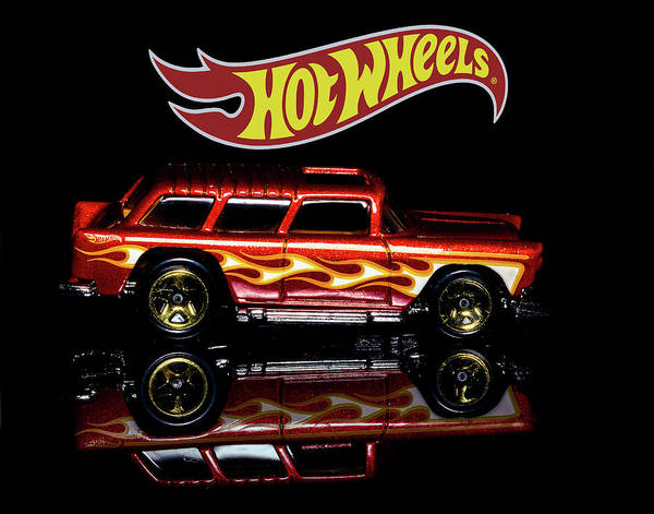 Photograph - Hot Wheels '55 Chevy Nomad by James Sage