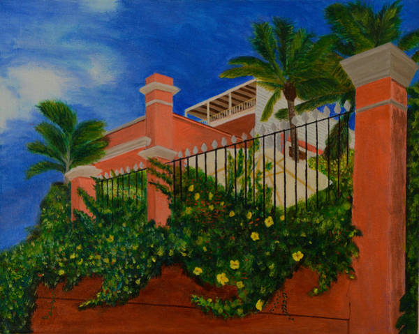 Us Virgin Islands Painting - Hotel Adequate View by Ryan Mistovich
