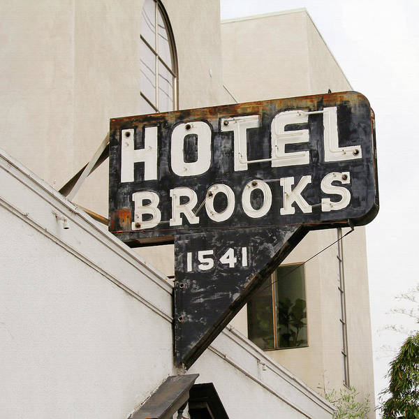 Words Photograph - Hotel Brooks by Art Block Collections