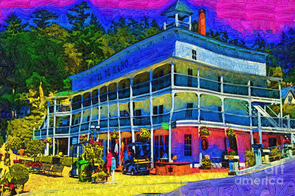 Harbor Scene Digital Art - Hotel De Haro by Kirt Tisdale
