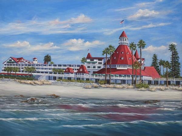 Wall Art - Painting - Hotel Del Coronado by Lisa Reinhardt