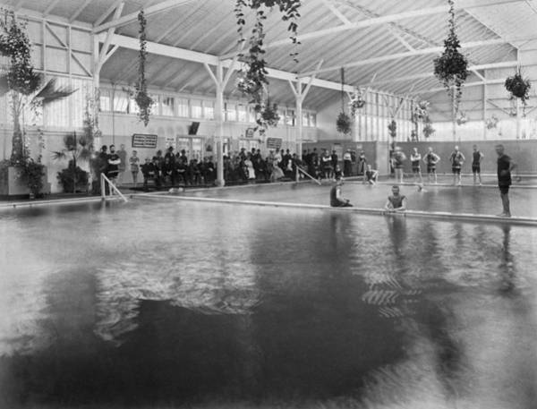 Luxury Hotel Photograph - Hotel Del Monte Bath House by Underwood Archives