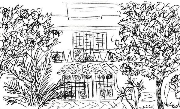 Drawing - Hotel Escandinavia In Torremolinos by Chani Demuijlder