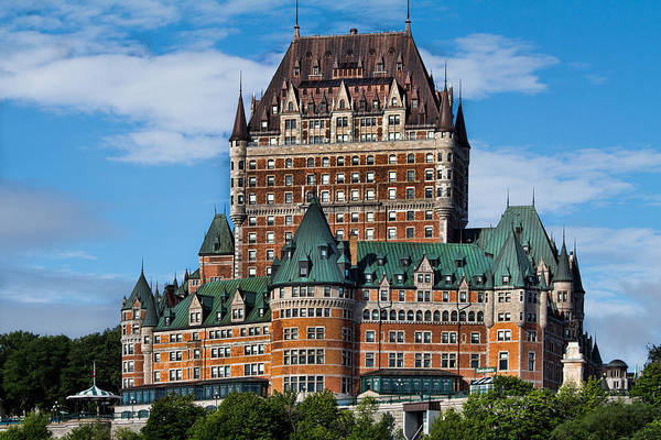 Quebec City Photograph - Chateau Frontenac In Quebec City by David Smith