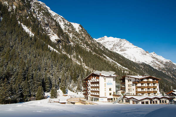 Photograph - Hotel In Pitztal Austria In Winter by Matthias Hauser